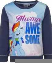 Blauwe my little pony sweater voor meisjes trend
