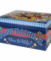 Blauwe opbergbox opbergdoos paw patrol 49 cm trend