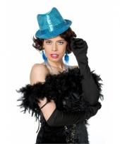 Blauwe pailletten hoed trend