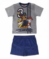 Blauwe paw patrol korte pyjama jongens trend