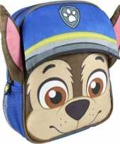 Blauwe paw patrol rugtas rugzak chase 23 x 28 cm voor jongens trend