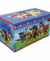 Blauwe paw patrol speelgoed opbergbox 76 cm trend