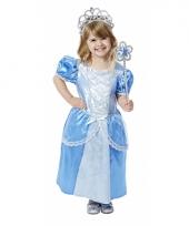 Blauwe prinsessenjurk met accessoires voor meisjes trend