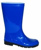 Blauwe pvc regenlaarzen voor dames trend