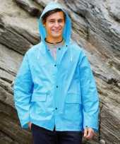 Blauwe regenjas splash voor volwassenen trend