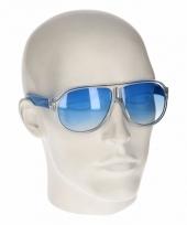 Blauwe retro zonnebril type 0176 trend