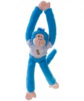 Blauwe slingeraap knuffel 40 cm trend