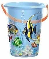 Blauwe speelgoed strandemmer vissen trend