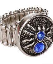 Blauwe spin chunk ring voor volwassenen trend