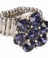 Blauwe steentjes chunk ring voor volwassenen trend