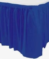 Blauwe tafelrokken trend