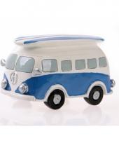 Blauwe vw surf bus spaarpot trend