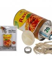 Blik ravioli pasta met opbergruimte trend