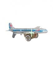 Blikken vliegtuigje 18 cm trend 10068795