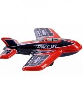 Blikken vliegtuigje space jet 11 cm trend