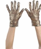 Bling handschoenen goud trend