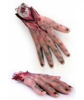 Bloederige handen halloween trend