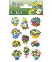 Bloem stickers 3 velletjes trend