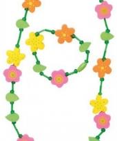 Bloemen ketting en armband voor kids trend