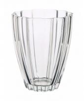 Bloemvorm vaas helder glas 17 cm trend