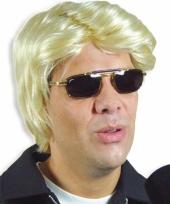 Blonde feestpruik heren trend