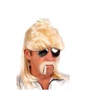 Blonde heren pruik gladde jongen trend