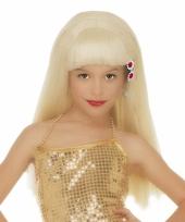 Blonde pamela pruik voor meisjes trend