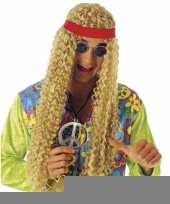 Blonde pruik met bandana trend