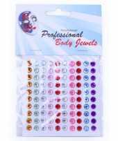Body juwelen plaksteentjes 100 stuks trend