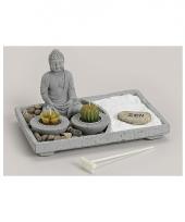 Boeddha zen tuintje met theelichtjes rechthoek trend