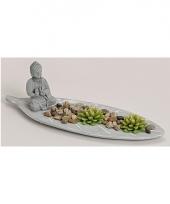 Boeddha zen tuintje met theelichtjes trend