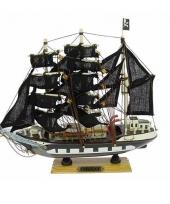 Boot piraat op houten voet 24 cm trend