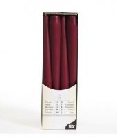 Bordeaux rode kaarsen 25 cm trend