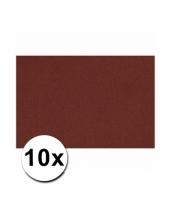 Bordeaux rood knutselpapier a4 formaat 10 stuks trend