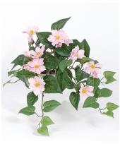 Bosje kunst clematis roze 60 cm trend