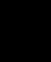 Boten plakletter h zwart 10 cm trend