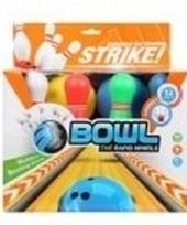 Bowling set 10 kegels 2 ballen 18 cm trend