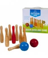 Bowling set van berkenhout trend