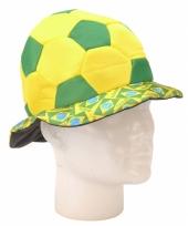 Brazilie voetballen hoed 18 cm trend