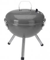 Briketten barbecue grijs 28 cm rond trend