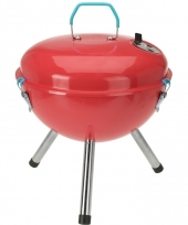Briketten barbecue rood 28 cm rond trend