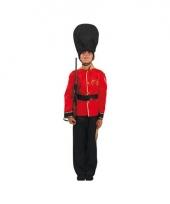 Britse soldaat kinder verkleed kostuum trend