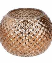 Bronzen glazen kaarsenhouder rond trend