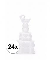 Bruiloft bellenblaas pakket zwaan 24 stuks trend