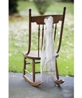 Bruiloft stoel decoratie met organza trend