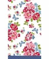 Bruiloft tafelkleed rozen print 138 x 220 cm trend