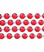 Bruiloft tafelversiering kristal slinger rood trend