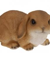 Bruin konijn beeldje 28 cm trend