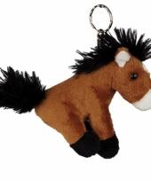 Bruin paardjes sleutelhanger trend