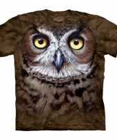 Bruin vogel t-shirt uil trend